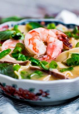 Asian Shrimp and Noodle Soup
