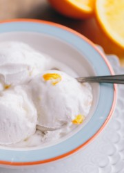 Coconut Sorbet with Orange Marmalade Swirl
