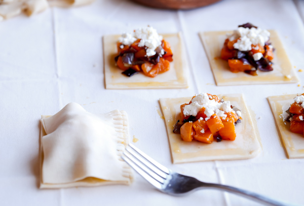 Butternut Squash and Feta Hand Pies. A delicious savory pastry!