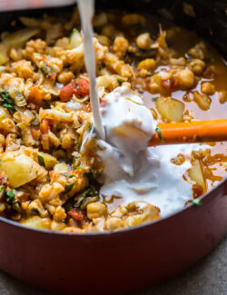 Simple Cauliflower, Potato, and Chickpea Curry