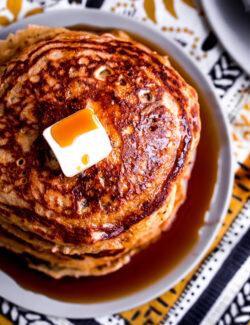 Lemon Chia Whole Wheat Pancakes