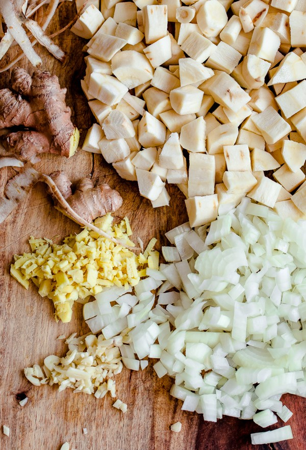 Parsnip and Ginger Soup Ingredients