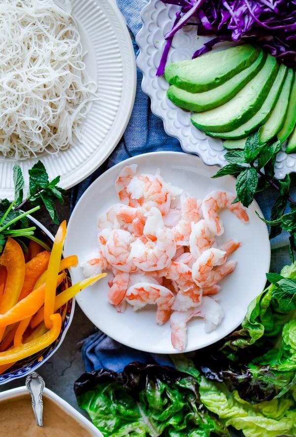 Shrimp Summer Roll Filling