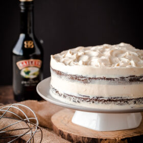 Guinness Stout Cake with Bailey's Cream Cheese Frosting. The ultimate St.Patrick's Day dessert!