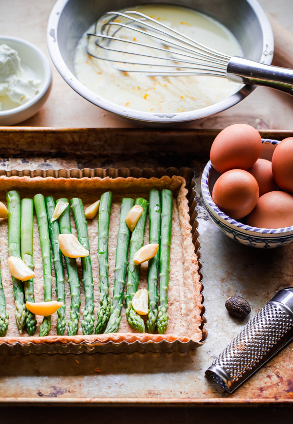 Spring Asparagus and Goat Cheese Quiche
