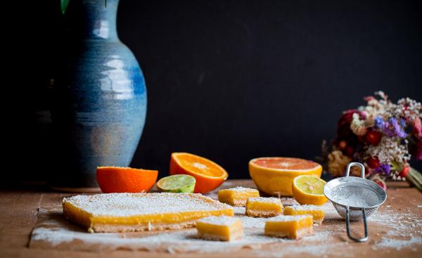 Four Citrus Coconut Bars