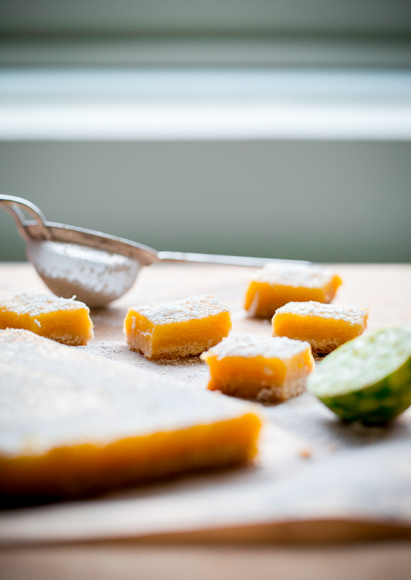 Four Citrus Coconut Shortbread Bars
