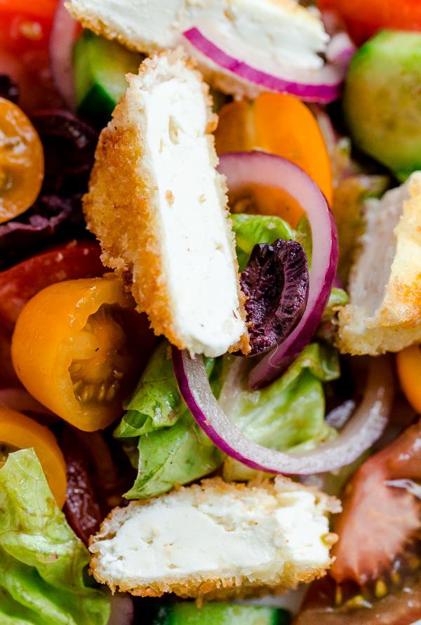 Greek Salad with Crispy Feta