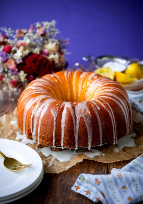 Lemon Pound Bundt Cake. This incredibly moist and delicious cake is the perfect dessert for Mother's Day!