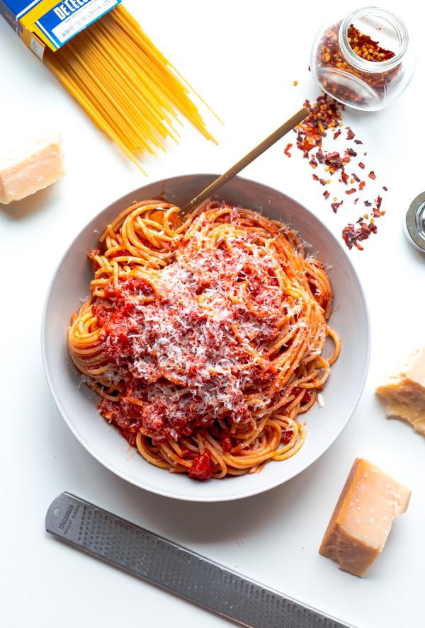 Classic Spaghetti Amatriciana