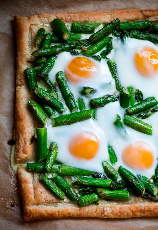Asparagus Egg Puff Pastry Tart