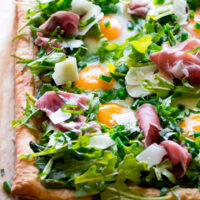 Asparagus Egg Prosciutto Tart with Summer Salad