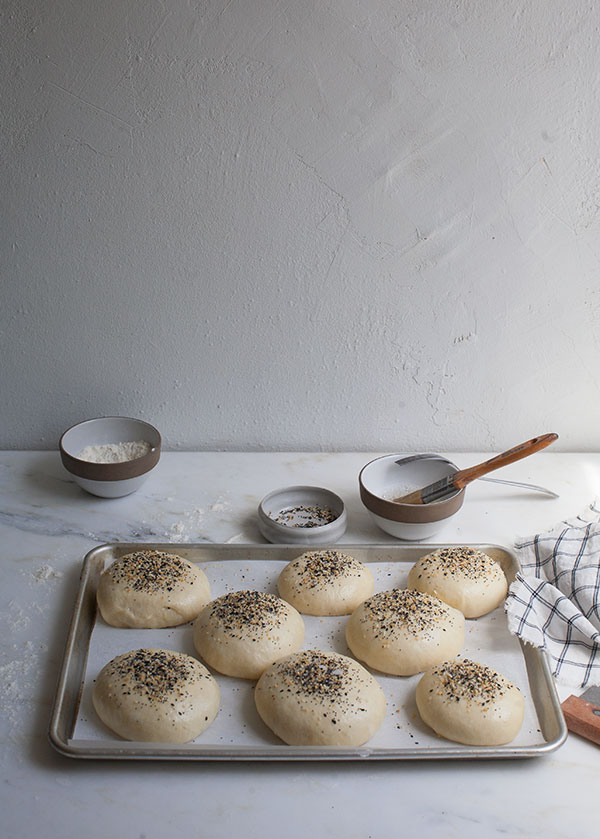 Homemade 'Everything' Hamburger Buns | A Cozy Kitchen