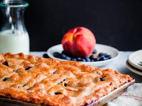 Blueberry Peach Slab Pie A Beautiful Plate