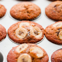 Banana Chocolate Chunk Espresso Muffins
