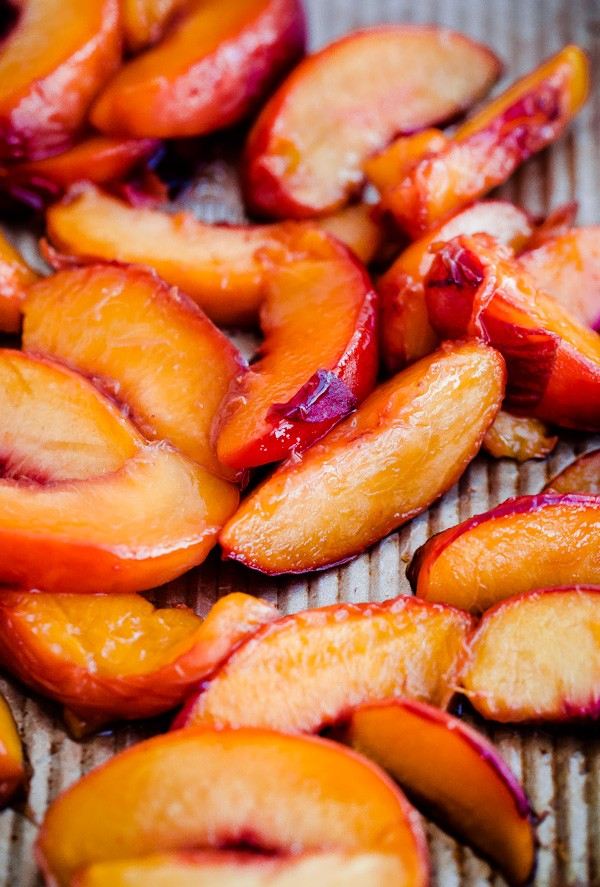 Maple Syrup Roasted Peaches