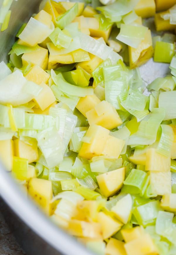 Cauliflower Potato Mixture in Pot