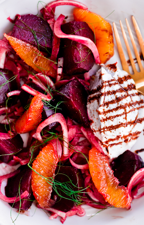 Roasted Beet Salad with Fennel, Orange, and Whipped Ricotta. A light, refreshing summer salad!Roasted Beet Salad with Fennel, Orange, and Whipped Ricotta. A light, refreshing summer salad!