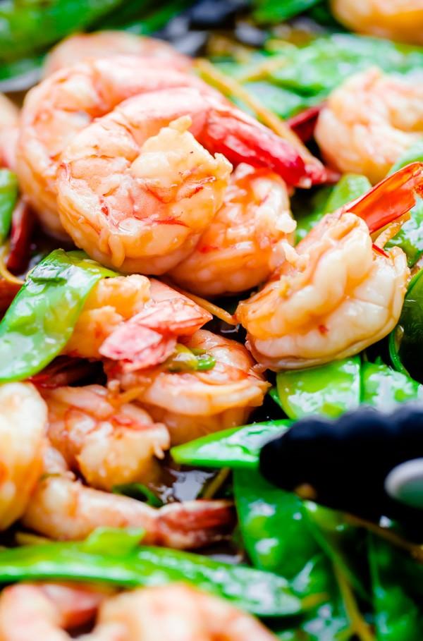 15 Minute Shrimp and Snow Pea Stir Fry