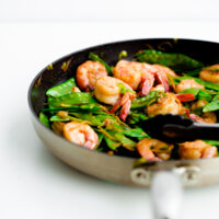 15 Minute Shrimp, Snow Pea, and Ginger Stir Fry