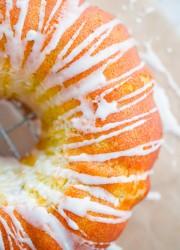 Zucchini Cardamom Bundt Cake with Lemon Glaze