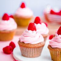 Roasted Raspberry Cupcakes