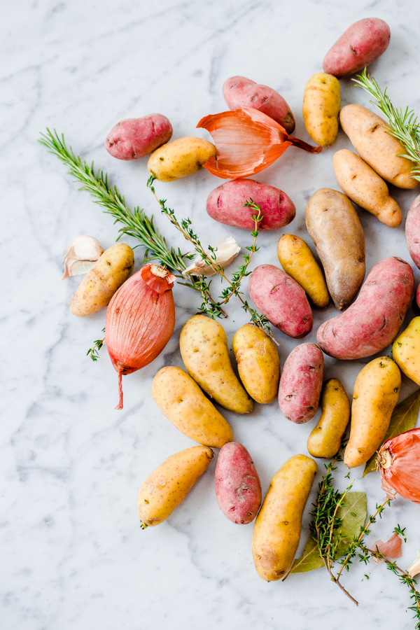Beautiful Fingerling Potatoes. One of my favorite fall side dishes!