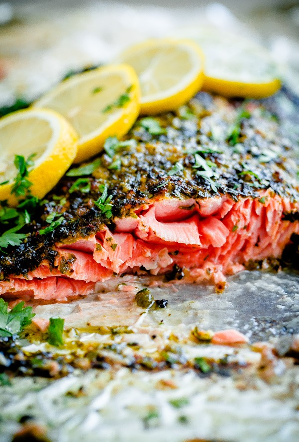 Weeknight Broiled Salmon with Chermoula