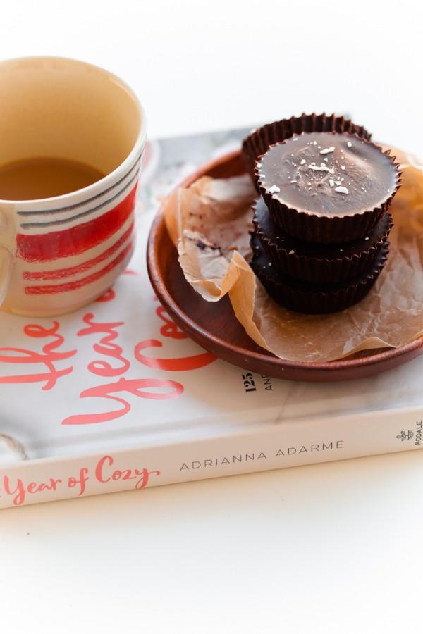 Homemade Cinnamon Almond Butter Chocolate Cups