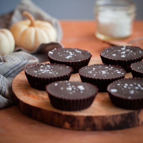 Homemade Cinnamon Almond Butter Chocolate Cups