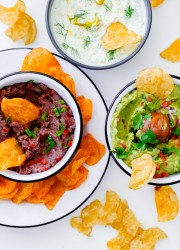 Kettle Chip and Dip Pairing Guide. Three easy homemade dip recipes to serve at your next tailgating party!