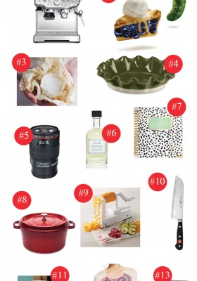 2015 Favorite Things Holiday Gift Guide. 13 gift ideas for the holiday season!