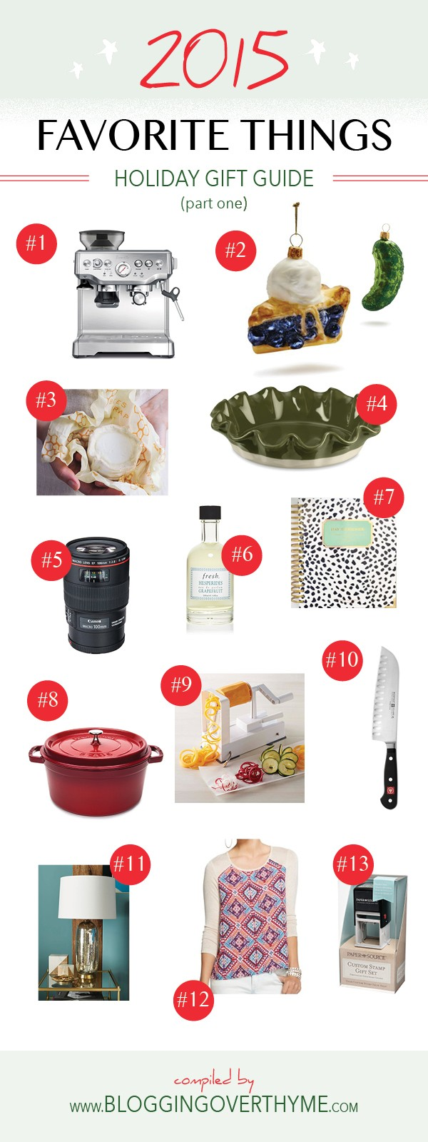 Favorite Things Holiday Gift Guide - 13 great gift ideas for the holiday season!