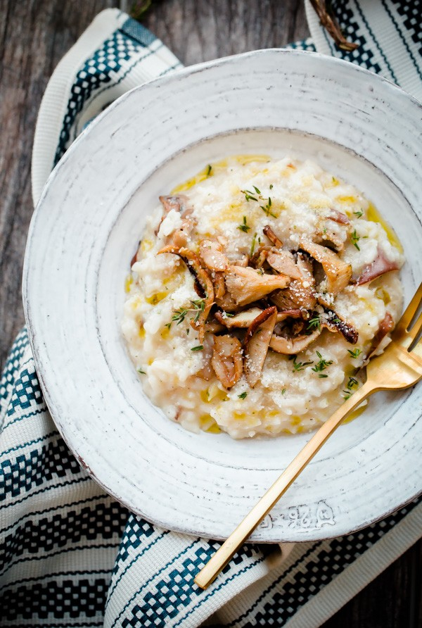 Easy No Stir Mushroom Risotto