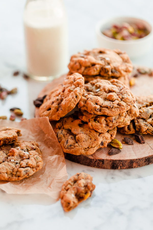 Orange Salted Pistachio Chocolate Chunk Cookies. These chewy fragrant ...