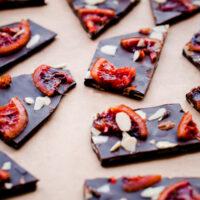 Blood Orange Almond Chocolate Bark