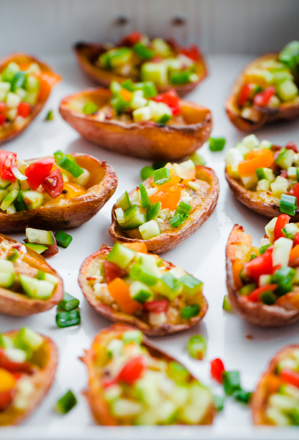Greek style potato skins with hummus a beautiful plate greek style potato skins with hummus a healthy and easy potato skin recipe made forumfinder Image collections