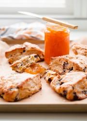Orange Chocolate Chunk Scones with Orange Glaze