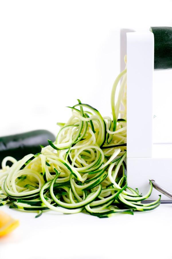Inspiralizer with Zucchini