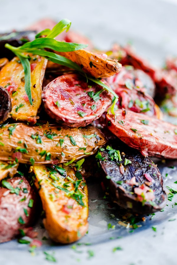 Roasted Fingerling Potatoes with Tarragon-Shallot Butter - the best recipes of 2015!