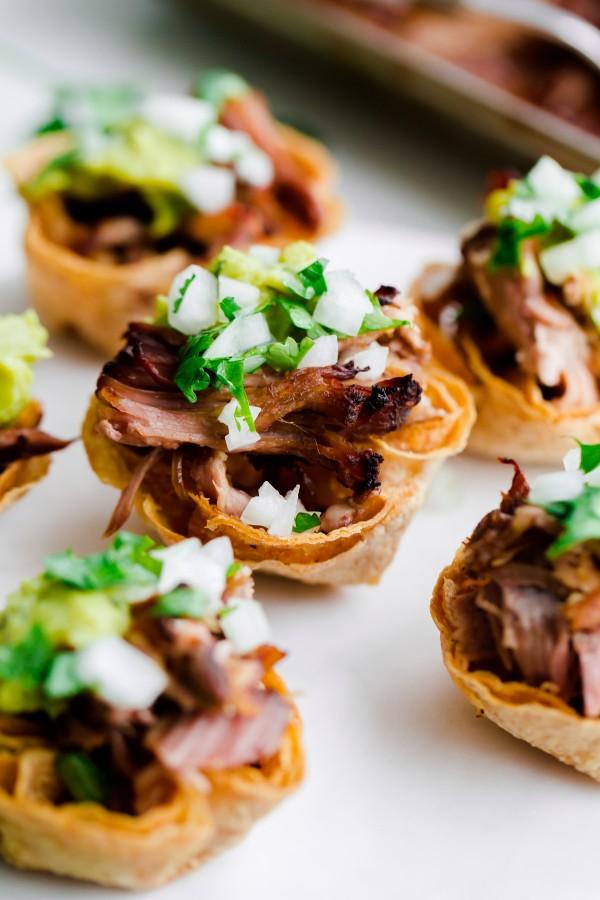 Slow Cooker Carnitas Taco Bites