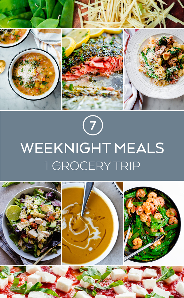 7 Weeknight Meals, 1 Grocery Trip, 1 Shopping List - a weekly meal plan that makes life easier!