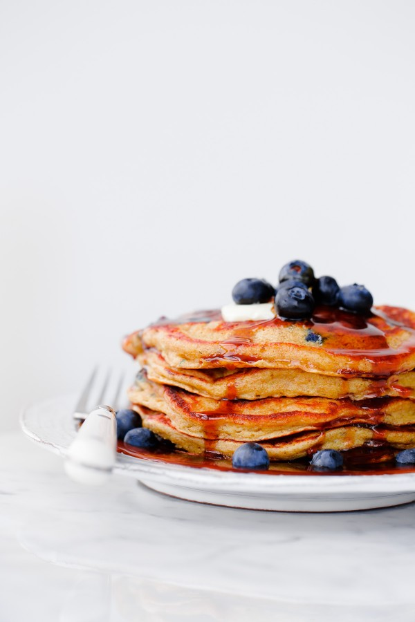 ... Syrup. Fluffy 100% whole grain pancakes filled with fresh blueberries