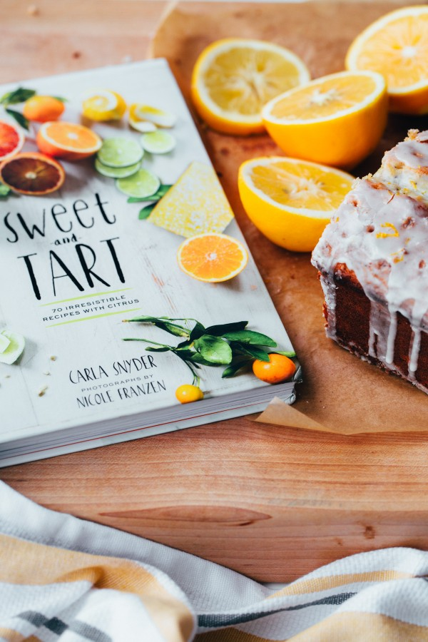 Whole Grain Olive Oil Poppy Seed Loaf with Meyer Lemon Glaze - a healthy lemon cake made with whole wheat flour, Greek yogurt, and extra virgin olive oil!