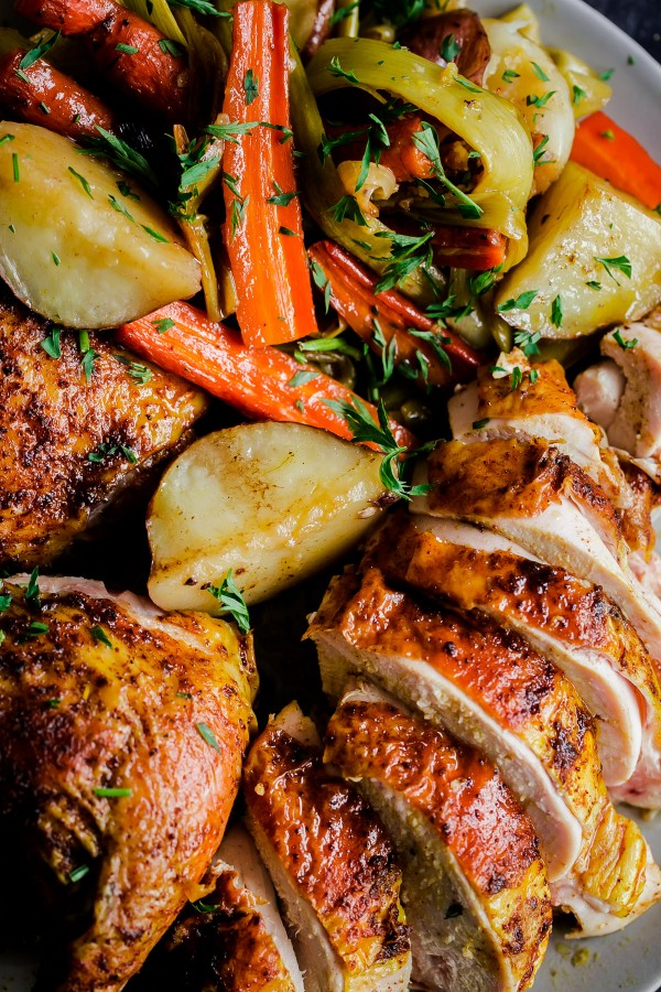 Middle Eastern Roast Chicken With Vegetables A Beautiful Plate