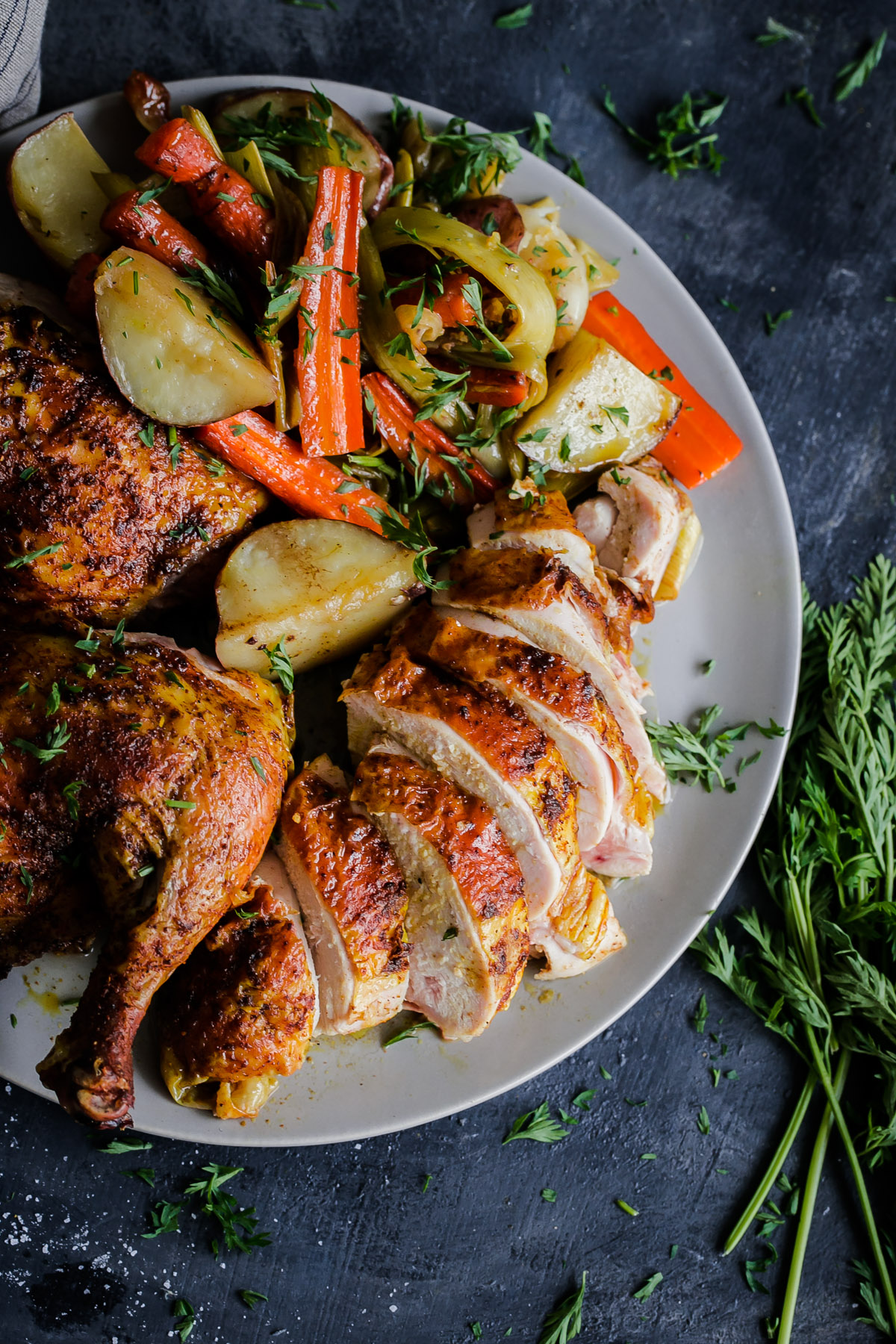 Middle eastern roast chicken with vegetables a beautiful plate forumfinder Gallery