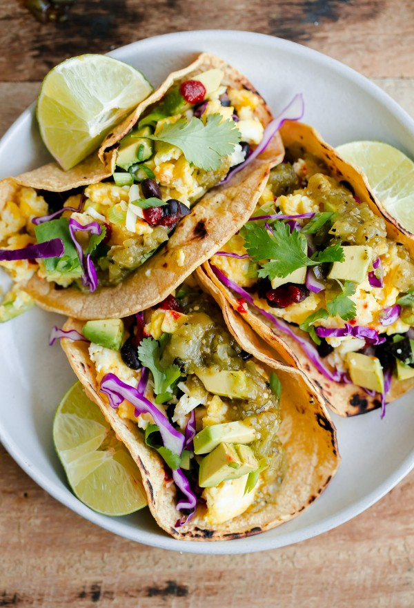 Vegetarian Breakfast Tacos A Beautiful Plate