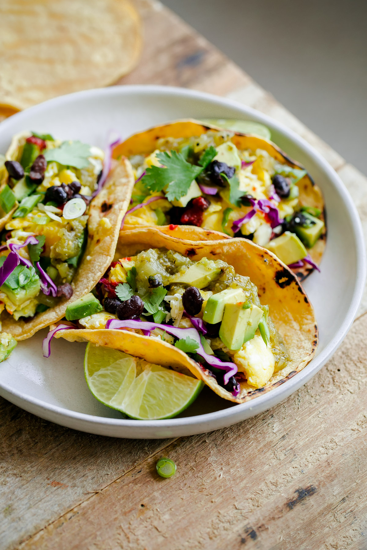 Vegetarian breakfast tacos a beautiful plate forumfinder Choice Image