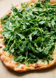 Lemon Truffle Arugula Pizza. One of my favorite pizza recipes!