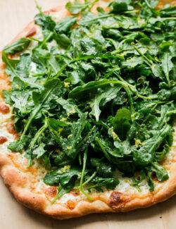 Lemon Truffle Arugula Pizza. One of my favorite pizza recipes!